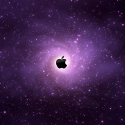 Apple Star-field iPad Wallpaper