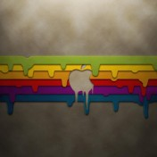 Dripping Apple iPad Wallpaper