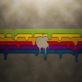 Dripping Apple iPad Wallpaper
