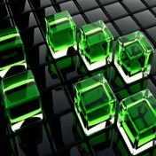 3D Qube iPad Wallpaper