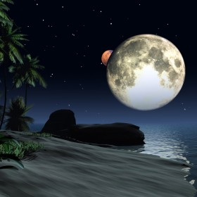 3D Beach iPad Wallpaper