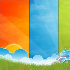 Bright Clouds iPad Wallpaper