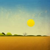 Abstract Scenery iPad Wallpaper