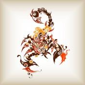 Abstract Scorpion iPad Wallpaper