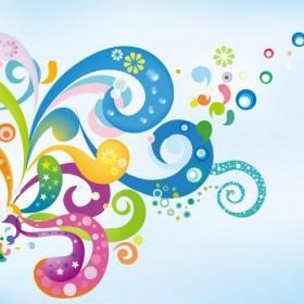 Abstract Swirls iPad Wallpaper