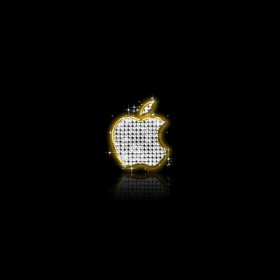 Apple Bling iPad Wallpaper