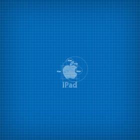Apple Blueprint iPad Wallpaper