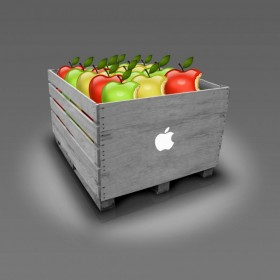 Crate of Apples iPad Wallpaper