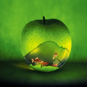 Apple Fishbowl iPad Wallpaper