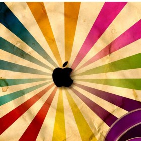 Apple Grunge Logo iPad Wallpaper