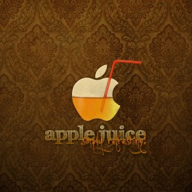 Apple Juice iPad Wallpaper