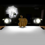 Apple Logo Center Stage iPad Wallpaper
