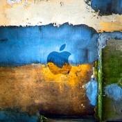 Grunge Apple Logo iPad Wallpaper