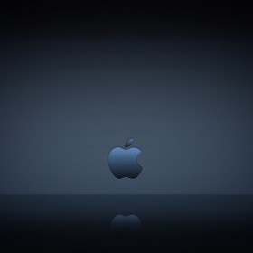 Apple Logo Reflection iPad Wallpaper