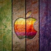 Apple Wood iPad Wallpaper