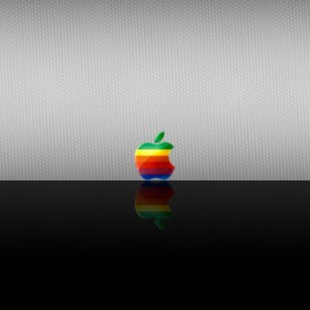 Apple Reflection iPad Wallpaper