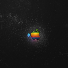 Apple Splatter iPad Wallpaper