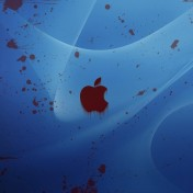 Apple Stain iPad Wallpaper