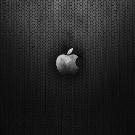 Black Hex Apple Logo iPad Wallpaper