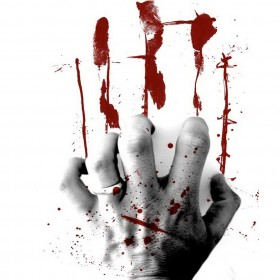 Bloody Hand Scrathing iPad Wallpaper