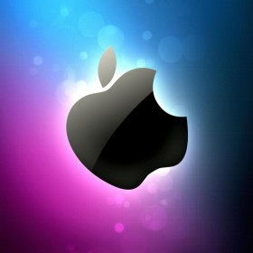 Blue and Pink Apple iPad Wallpaper