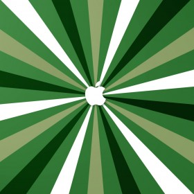 Green Burst Apple Logo iPad Wallpaper
