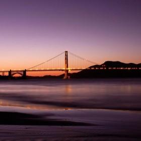 Bridge at Dawn iPad Wallpaper