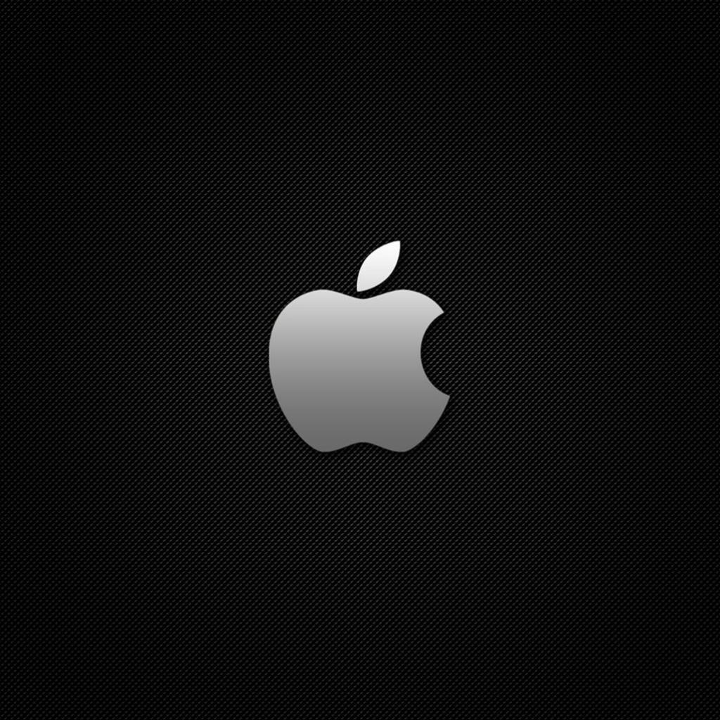 carbon apple logo ipad wallpaper ipadflavacom