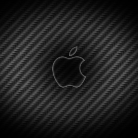 Carbon Fiber Apple Logo iPad Wallpaper
