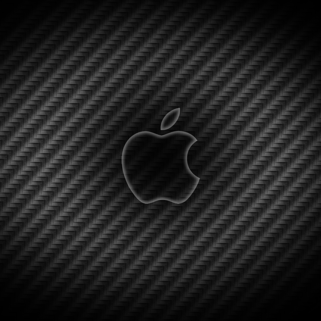 carbon fiber apple logo ipad wallpaper | ipadflava