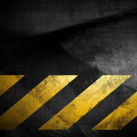 Caution Tape iPad Wallpaper