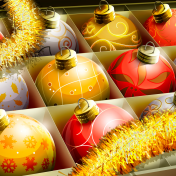 Christmas Bulbs iPad Wallpaper