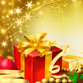 Christmas Present iPad Wallpaper