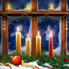 Christmas Window iPad Wallpaper