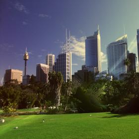 City Skyline iPad Wallpaper