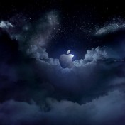 Cloudy Apple Logo iPad Wallpaper