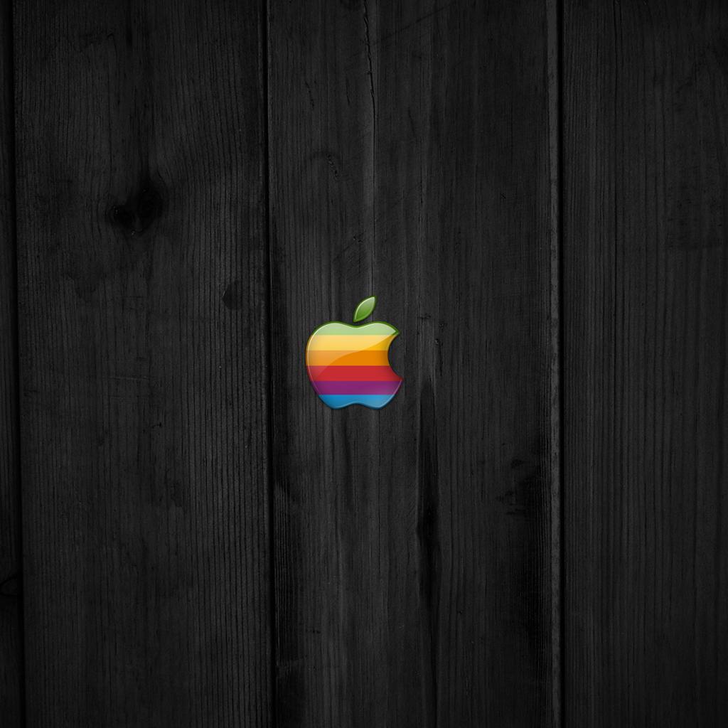 old school apple wood ipad wallpaper | ipadflava