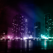 Colorful City iPad Wallpaper