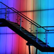 Colorful Staircase iPad Wallpaper