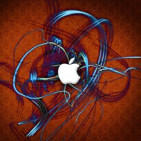 Electric Apple iPad Wallpaper