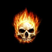 Flaming Skull iPad Wallpaper