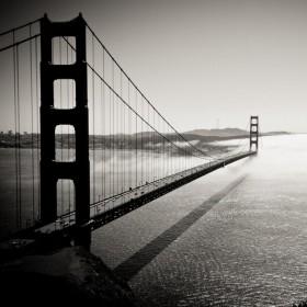Foggy Bridge iPad Wallpaper