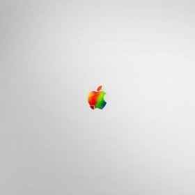 Fragmented Apple Logo iPad Wallpaper