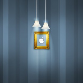 Framed Apple Logo iPad Wallpaper