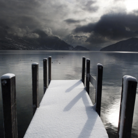 Frozen Dock iPad Wallpaper