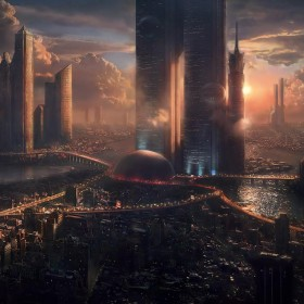 Future City iPad Wallpaper