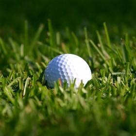 Golfball in Grass iPad Wallpaper