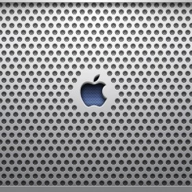 Grated Apple Logo iPad Wallpaper