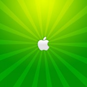 Green Apple Burst iPad Wallpaper