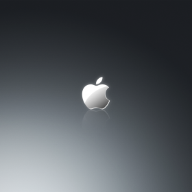 Grey Apple Logo iPad Wallpaper